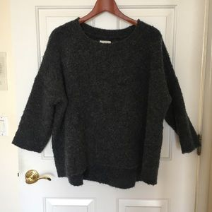 Lou and Grey oversized alpaca gray chunky sweater